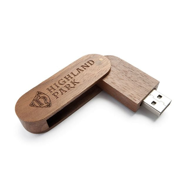 Etched Wooden Memory Stick