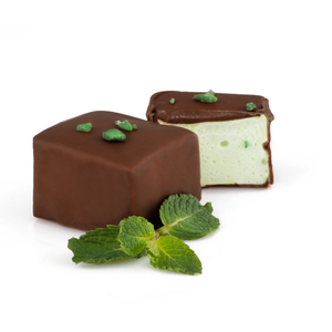 Mint Artisan Marshmallows in Dark Chocolate 6pc