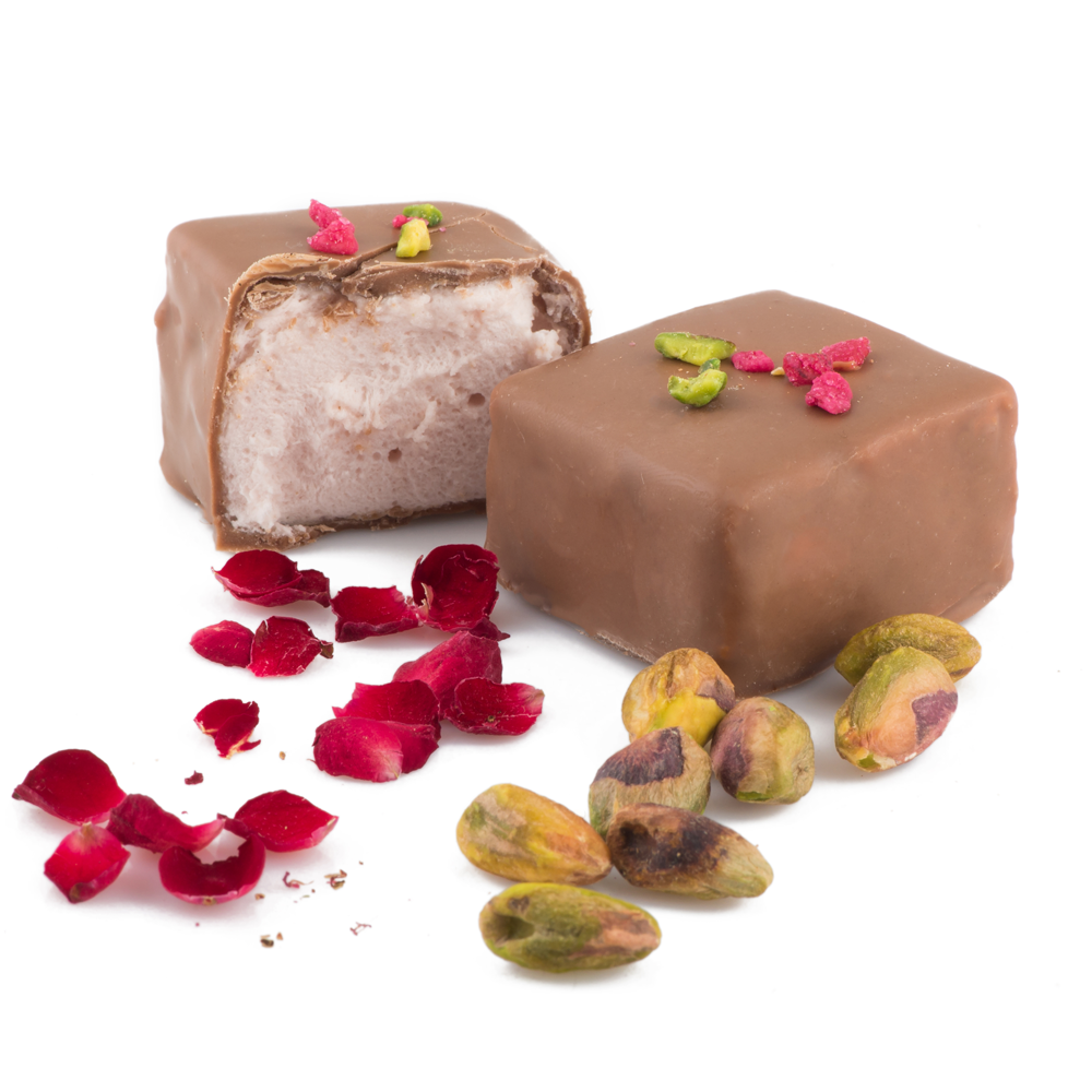 Rose Pistachio Marshmallows in Milk Chocolate 6pc