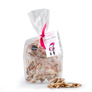 Pecan Pebbles® in White Chocolate 100g