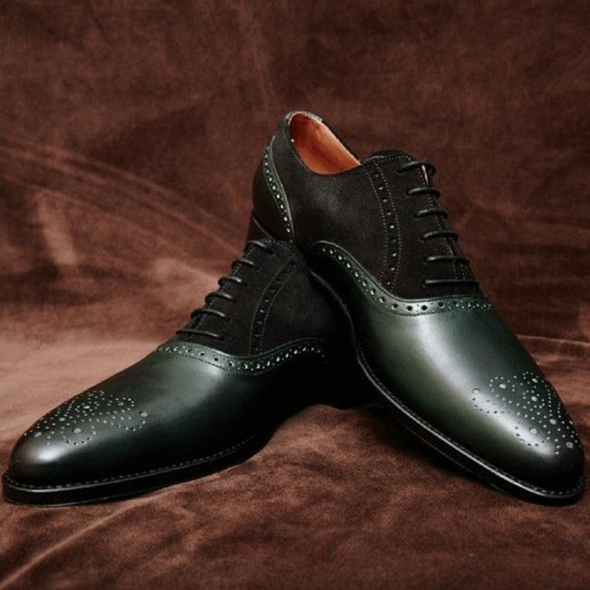 2f39b80ccd623  40 OFF PROMOTION + FREE SHIPPING ! Handmade Men s Two-tone Brogue Leather Oxford  Dress Shoes