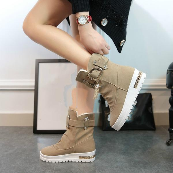 c75249d32 2017 Female Thermal Cotton-padded Shoes Snow Boots