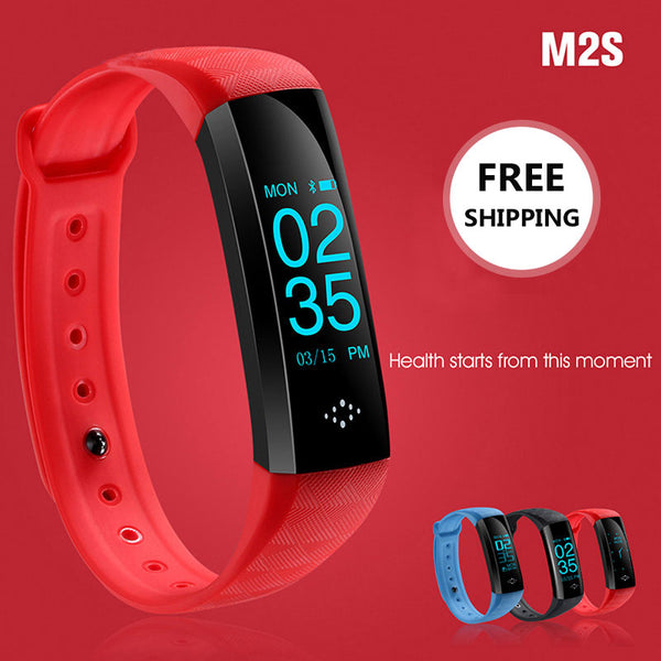 M2S Heart Rate Blood Pressure Pulse Meter Bracelet Fitnes Smartband