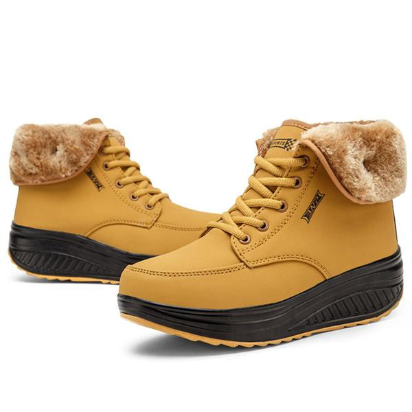 Women Winter Velvet Warm Snow Fur Ankle Boots