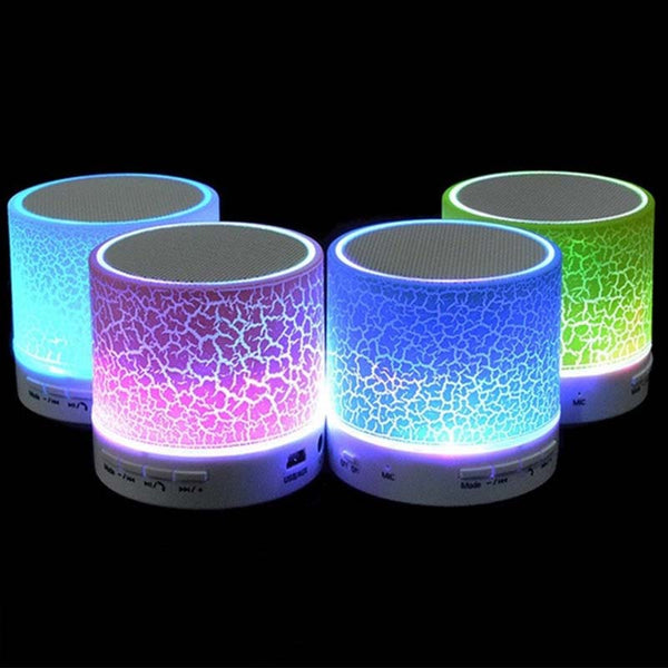 Portable Mini Bluetooth  LED Speakers With TF USB