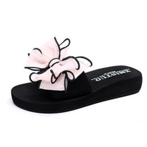 Shoes - Female Bow Thong Jelly Flip Flops