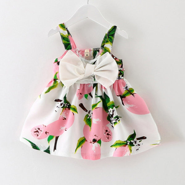 b20876e491154 Knee-length Sleeveless Bow Princess Baby Girl Dresses