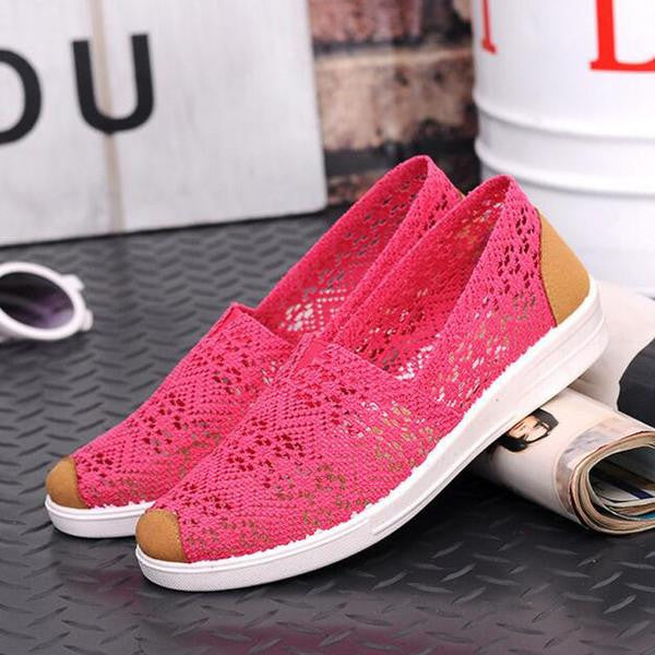 Women's Shoes - Summer Comortable Casual Flat Hollow Breathable Women Shoes