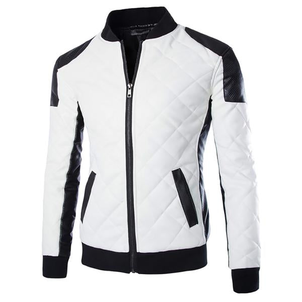 Plus Size Men's Brand Slim Leather Casual Jacket
