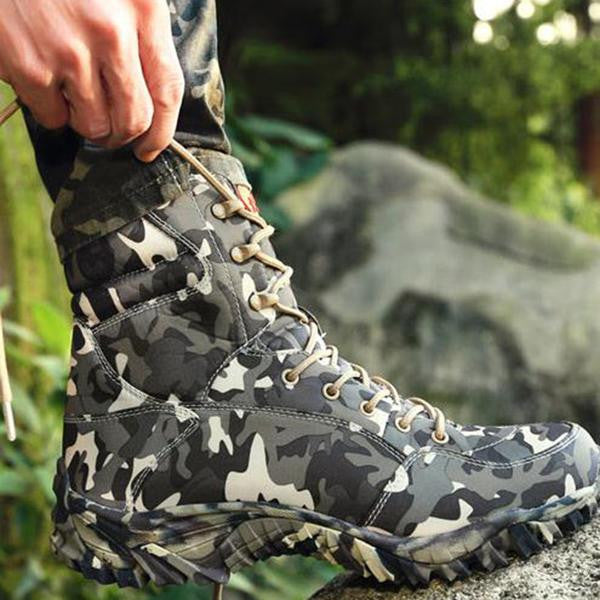 Boots - Men Army Commando Combat Boots Tactical Camouflage Boots