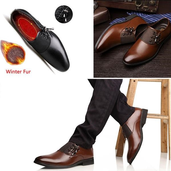 Business Warm Winter Men's Fur Shoes