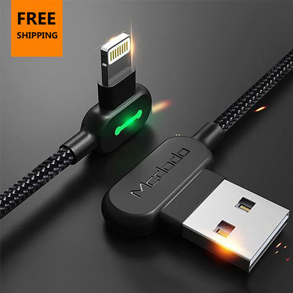 90 Degree Fast Charging USB Cable For iPhone Samsung and other Android Phones(Buy 2 get 15% off; Buy 4 get 20% off)