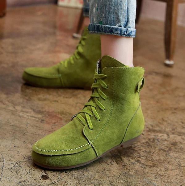 Hot Sale Soft Flat Ankle Boots