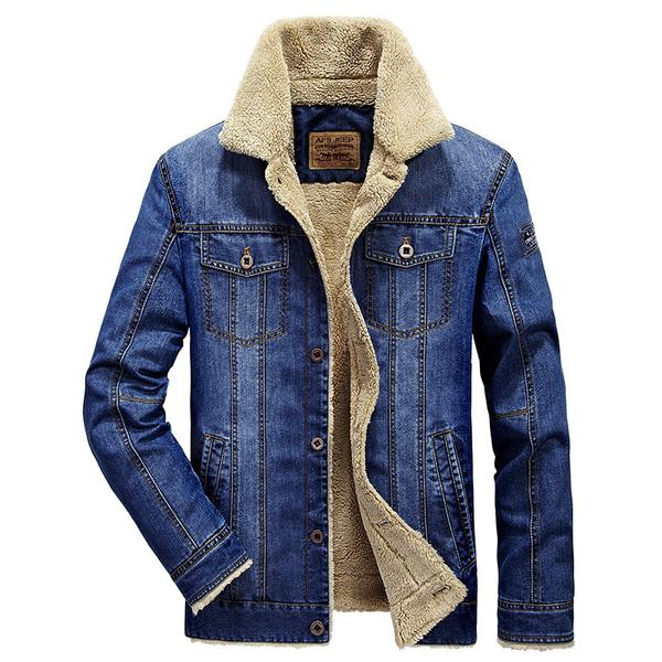Fashion Autumn Winter Men's Jeans Jacket