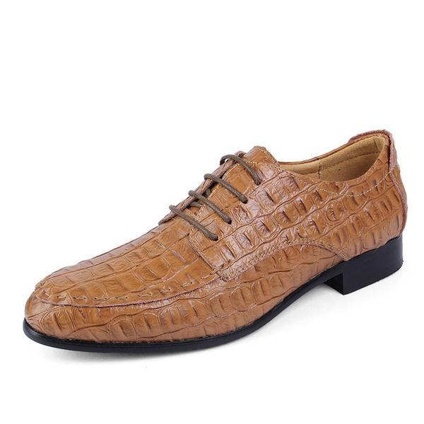 Mens Genuine Crocodile Big Size Wedding Shoes