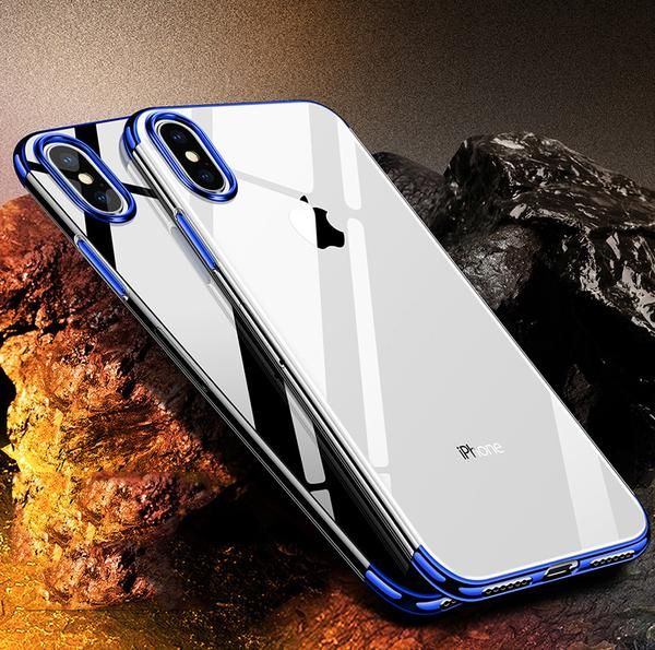 Luxury Original Ultra Thin Transparent Clear Plating Shining Protective Phone Case For iPhone X 8/7 Plus(Buy 2 to get 15% off; Buy 4 to get 20% off)