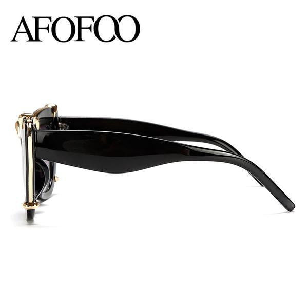 Luxury Brand Oversized Fashion Women Cat Eye Sunglasses