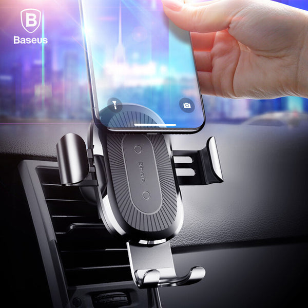 QI Wireless Fast Charger Gravity Car Mount Holder(Buy 2 to get 15% off; Buy 4 to get 20% off)