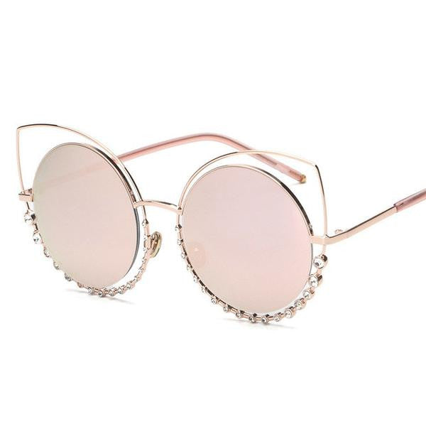 Sunglasses - Luxury Rhinestone Sexy Cat Eye Sunglasses