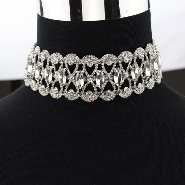 Necklace - Rhinestone Choker Necklace