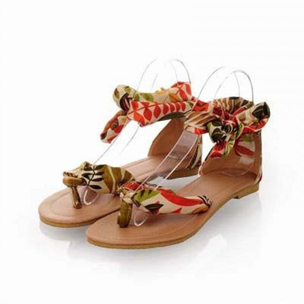 f38ade9580d Shoes - Women T Strap Colorful Beach Flat Heel Leisure Sandals ...