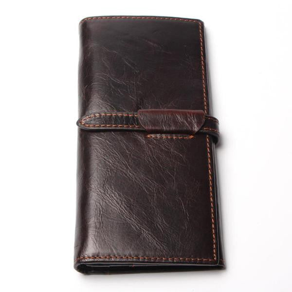 Wallet - Genuine Leather High Quality Men Casual Long Wallet