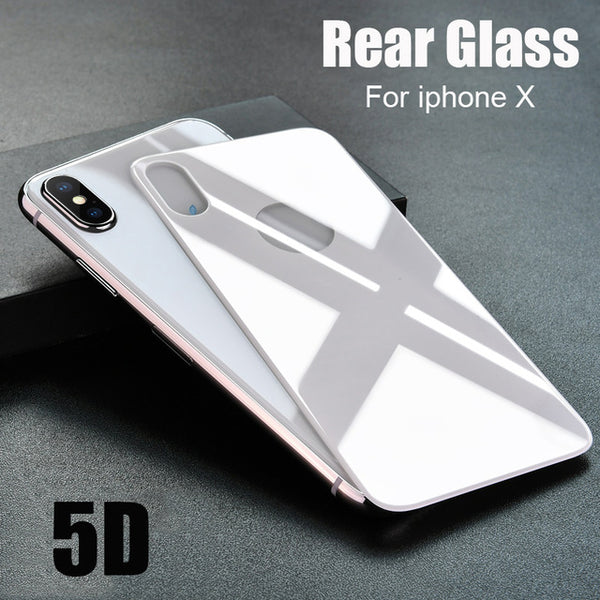 official photos 55eec bbdf9 Front + Back 5D Full Screen Cover Tempered Glass For iPhone X