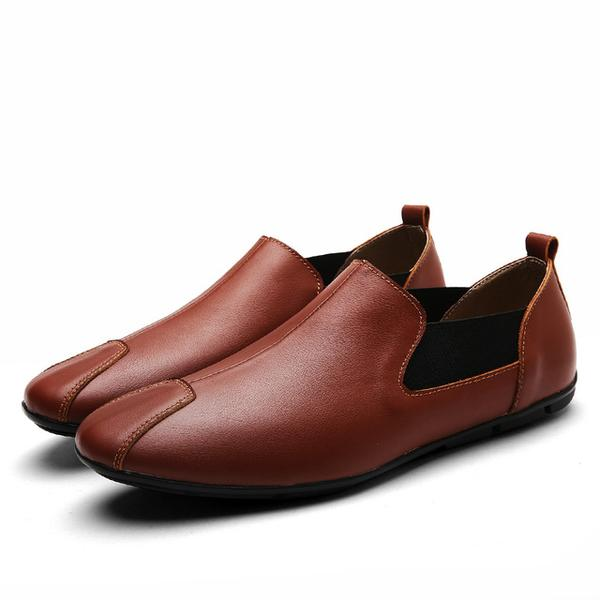 aea9f986c5d Full Grain Leather Slip on Loafer Men s Shoes – Feature Mall