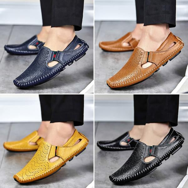 Shoes - Genuine Leather Mens Casual Male Sandals