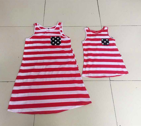 Dress - Summer American Flag Mum and Daughter Dress