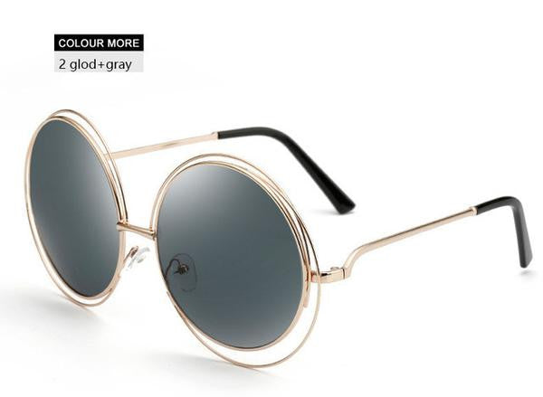 Fashion Ladies Retro Mirror Oversized Sunglasses