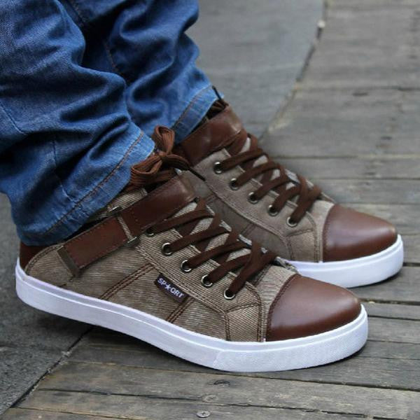 Shoes - New Breathable Canvas England Style Mix-color Shoes
