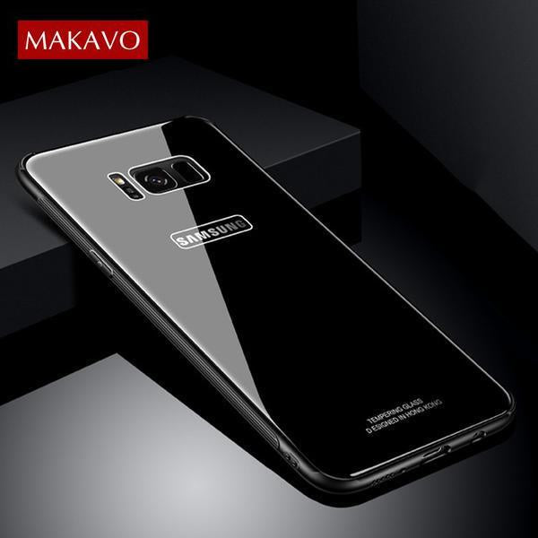 finest selection 81c87 9d4f6 Hybrid Tempered Glass Back Cover for Samsung Note8 S8 S8+ Plus Anti-Scratch  Shell(Buy 2 to get 15% off; Buy 4 to get 20% off)