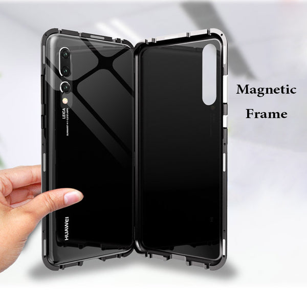 sports shoes d8264 982ed Magnetic Adsorption Magnet Tempered Glass Case For HUAWEI P20 Pro (Buy 2  get 15% Off)