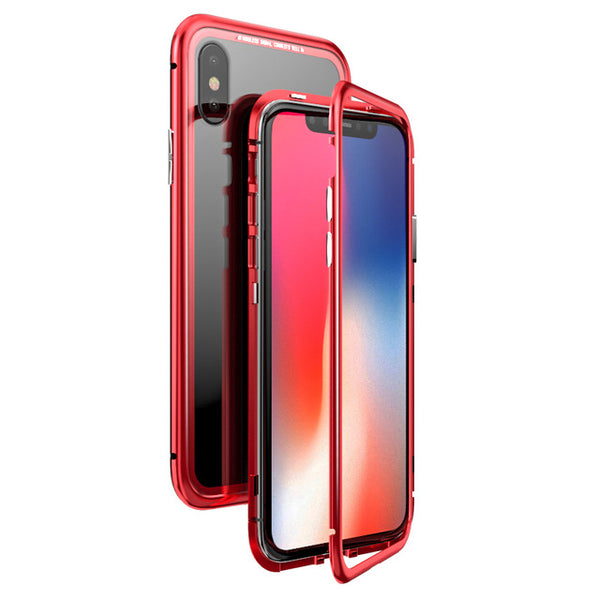 0b6fe1f334 Magnetic Adsorption Case Clear Tempered Glass Built-in Magnet Case For  iPhone(BUY 2 GET 15% OFF)