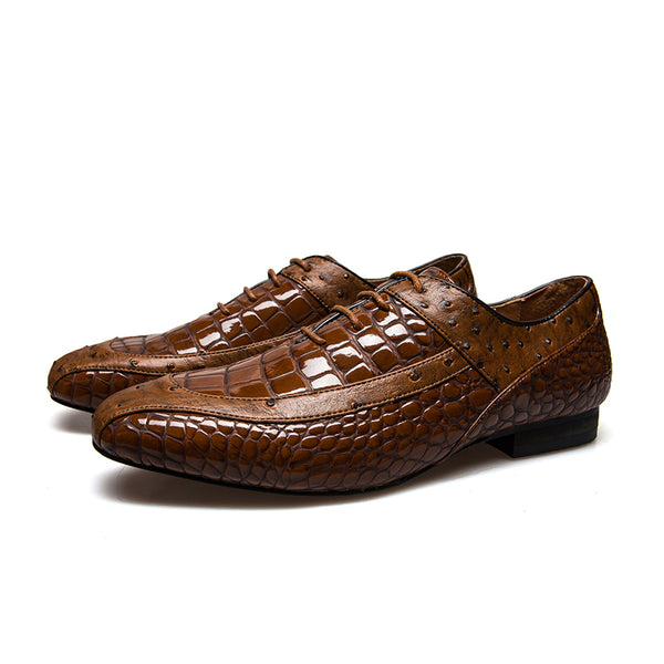 Fashion Italian  Leather Luxury  Oxford Mens Shoes