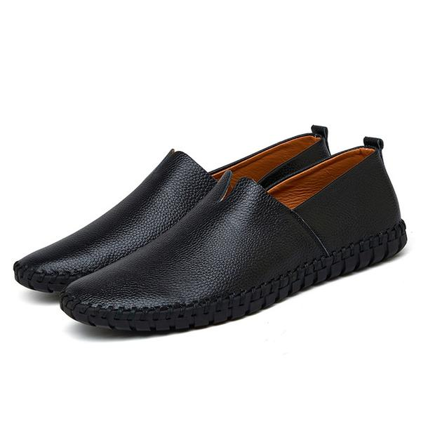 Big size to 16  Genuine Leather Slip-On Men's Boat Shoes