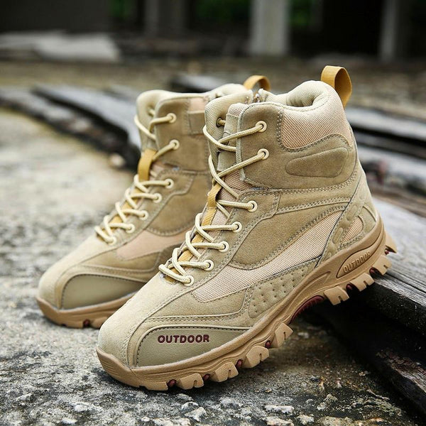 Men's high-top military boots outdoor sports and leisure walking shoes