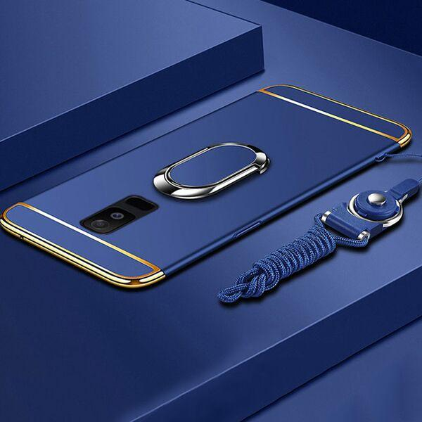 Luxury Ultra Thin 3 IN 1 Plating Magnetic Ring Holder Case For Samsung Note 9/8 S9 S8/Plus S7 S6/Edge