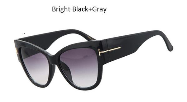 Sunglasses - Fashion Design Ladies Oversized Cat Eye Sunglasses