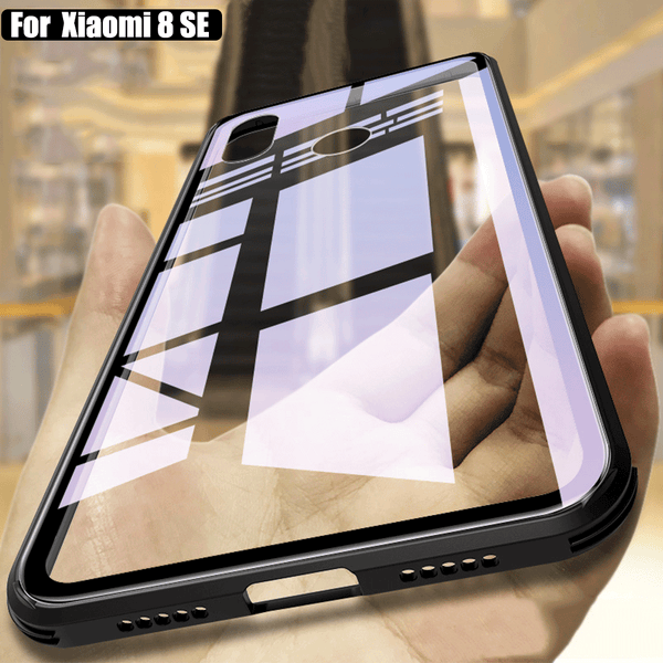new style 3a243 b06ed Luxury 9H Tempered Glass Phone Case For Xiaomi Mi 8 Mi8 Full Protection  Back Cover (Buy 2 get 15% Off)