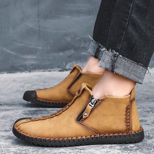 Fashion Genuine Leather Men Winter Boots Shoes