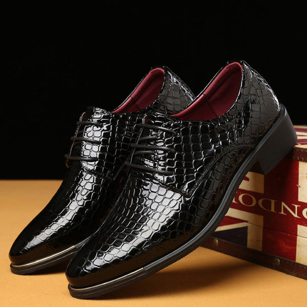 81835b77a36 High Quality Patent Leather Men Dress Shoes 2018 New Office Formal Busiess Wedding  Shoes