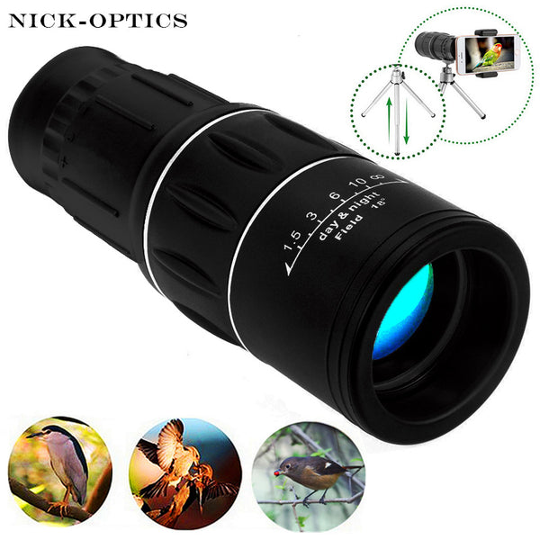 New Travel 16x52 Monocular HD Dual Focus Zoom High timesTelescope