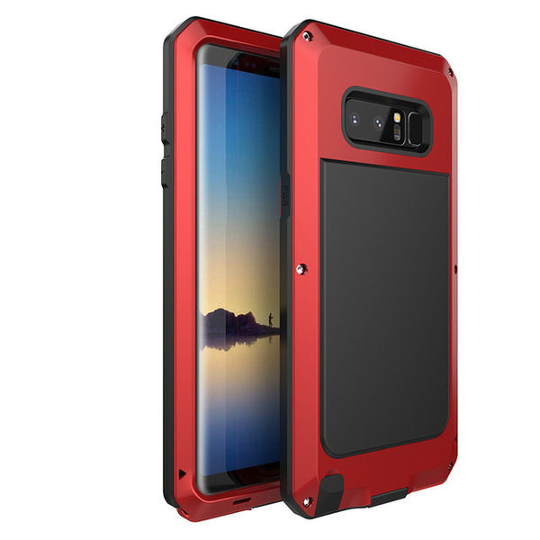 the latest ad34f c1a03 Luxury Doom Armor Dirt Shock Waterproof Metal Aluminum Phone Case For  Samsung Galaxy S9 /S9Plus/Note8/S8/S8PLUS + Tempered Glass