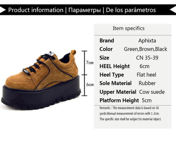 1e405a40d98 Quality Women Platform Heightening Boots Lace-up Ankle Shoes Cow Suede Shoes