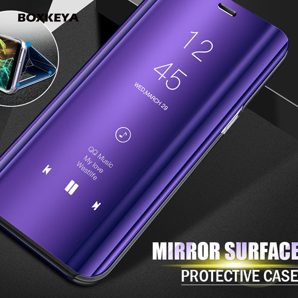 Smart View Mirror Flip Case For Samsung Note 9 8 A8 J7 (Buy 2 Get 15% Off)