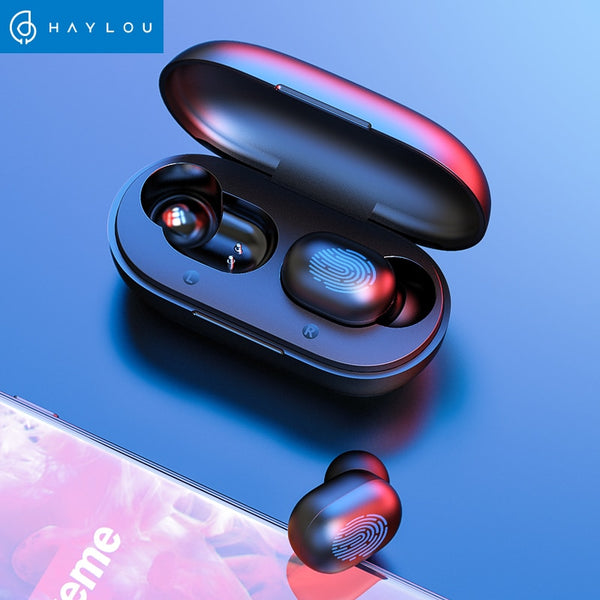 TWS Fingerprint Touch Bluetooth Earphones HD Stereo Wireless Headphones