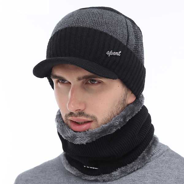 de325c4ee34 Unisex Wool Winter Hats Skullies Hat Beanies Scarf Caps Balaclava Mask For  Men   Women