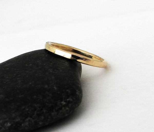 Simple Gold Wedding Band Women's Wedding Ring Stacking Gold Wedding Bands Plain 14k Wedding Rings